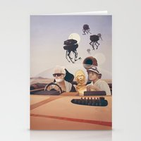 fear and loathing Stationery Cards featuring Fear and Loathing on Tatooine by Anton Marrast