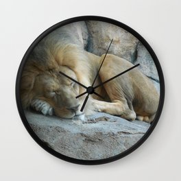 Sleeping Lion Wall Clock