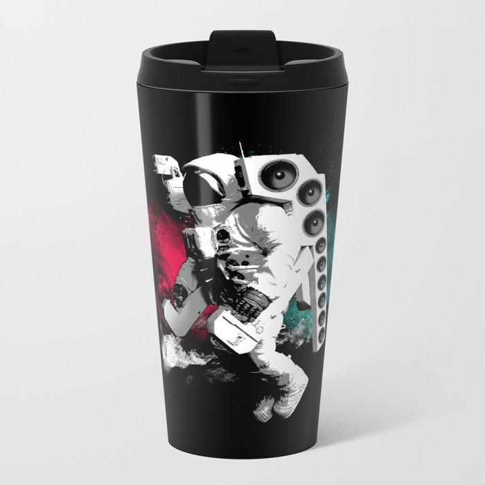 Basstronaut Metal Travel Mug