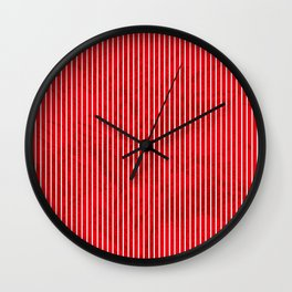 Red grunge stripes on white background Wall Clock