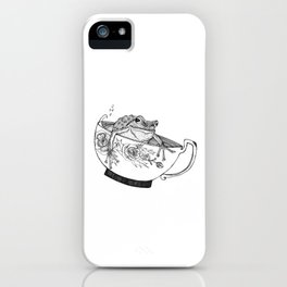 Pacific Northwest Tree Frog Riding in a China Teacup iPhone Case