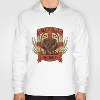 whisky Hoodies featuring Red Whisky by Corey Courts