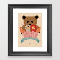 3 little pigs Framed Art Print