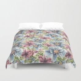 Hibiscus Vintage Pattern Duvet Cover