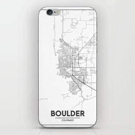 Minimal City Maps - Map Of Boulder, Colorado, United States iPhone Skin