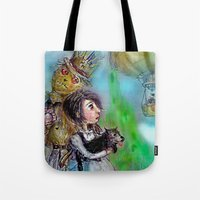 oz Tote Bags featuring  oz by AliluLera