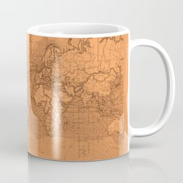 World Surface Routes in Brown Coffee Mug