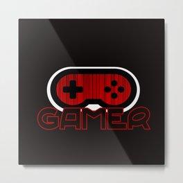 Red Gamer Metal Print