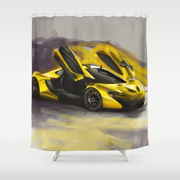 McLaren P1 Digital Painting | McLaren | Automotive | Car Shower ...