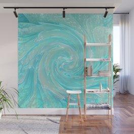 Aqua Swirl Wall Mural