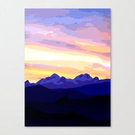 Triglav (2864m) Sunset Canvas Print