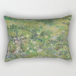 Long Grass with Butterflies Rectangular Pillow