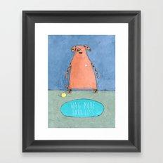 Wag More Bark Less Framed Art Print
