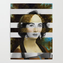 "Leonardo Da Vinci's ""Portrait of Ginevra Benci"" & Elizabeth Taylor Poster"