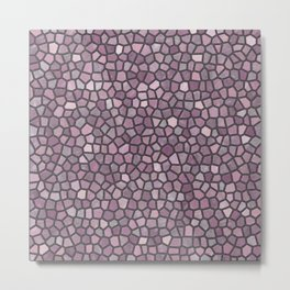 Mauve Pink Mosaic Pattern - darker Metal Print