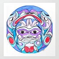 GrandFather Moon Art Print