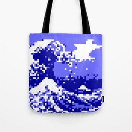 Pixel Tsunami Tote Bag