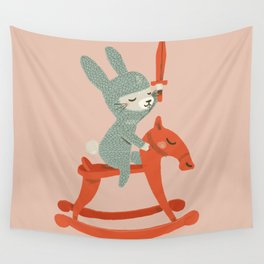 Rabbit Knight Wall Tapestry