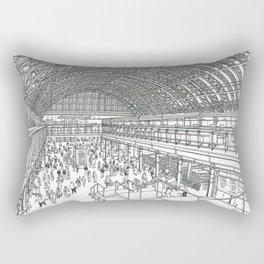 St Pancras railway station Rectangular Pillow