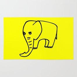 Elephant yellow Rug