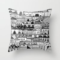 palestine Throw Pillows featuring Jerusalem, Palestine by LaPe