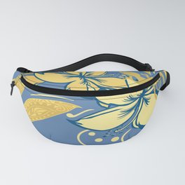 Samoan Orchid Sunset Polynesian Floral Fanny Pack