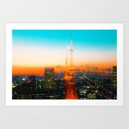 Golden Cityscape (Color) Art Print