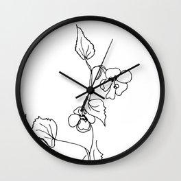 Abutilon abutiloides Wall Clock