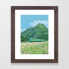 Spring train Framed Art Print