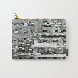 Highly Resolved Ghost (P/D3 Glitch Collage Studies) Carry-All Pouch
