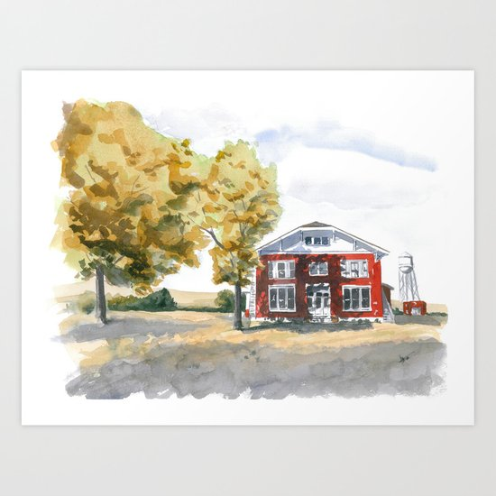 Edgefield School Art Print