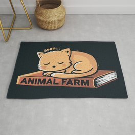Animal Farm Navy Rug