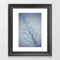 Seeds of Weeds in Vintage Blue Framed Art Print