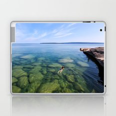 Serenity Swim in Lake Superior Laptop & iPad Skin