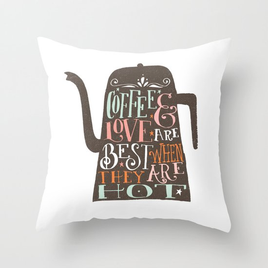 COFFE & LOVE Throw Pillow