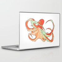 octopus Laptop & iPad Skins featuring Octopus by Jemma Salume