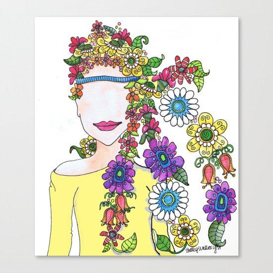Eighties Girl Canvas Print