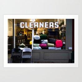 west village cleaners Art Print
