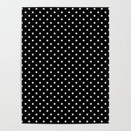 Dots (White/Black) Poster
