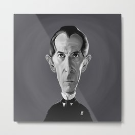 Peter Cushing Metal Print