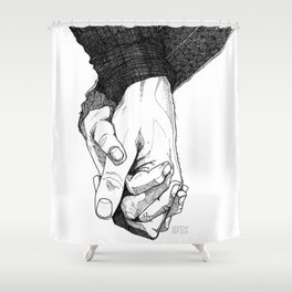 I Want To Hold Your Hand Shower Curtain