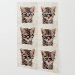 Kitten with Glasses Wallpaper
