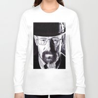 heisenberg Long Sleeve T-shirts featuring Heisenberg  by DeMoose_Art