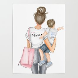 I got it from my mama toddler boy brunette Poster