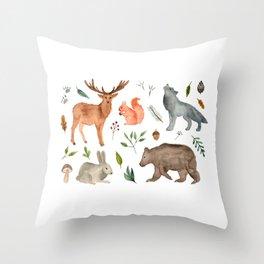 Forest team Throw Pillow