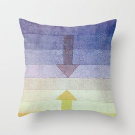 Separation in the Evening by Paul Klee 1922 // Sunset Abstract Minimalism Sun and Darkness Throw Pillow