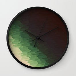 Forest Texture Ombre Wall Clock