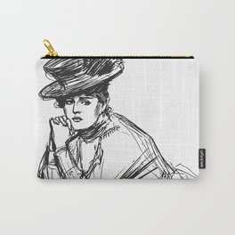 Victorian ladies' fashion sketch Carry-All Pouch