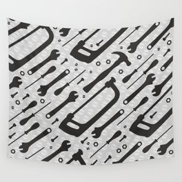 Tools Pattern Wall Tapestry