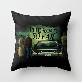 The Road So Far Throw Pillow